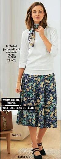 T-shirt jacquardtricot met reliëf-Huismerk - Damart