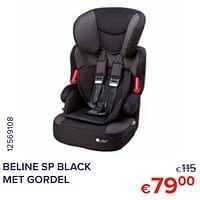 Beline sp black met gordel-Quax