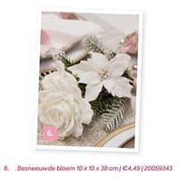 Besneeuwde bloem-Huismerk - Ava
