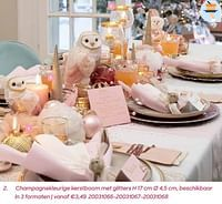 Champagnekleurige kerstboom met glitters-Huismerk - Ava