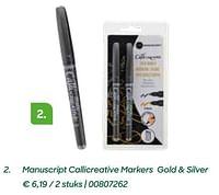 Manuscript callicreative markers gold + silver-Huismerk - Ava