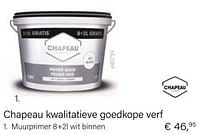 Chapeau kwalitatieve goedkope verf muurprimer 8+2l wit binnen-Chapeau