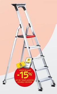-15% op de trapladders double decker-Huismerk - Brico