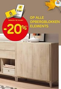 -20% op alle opbergblokken elements-Huismerk - Brico