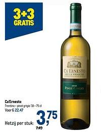 Ca`ernesto trentino - pinot grigio-Witte wijnen