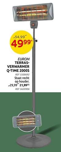 Eurom terrasverwarmer q-time 2000s-Eurom