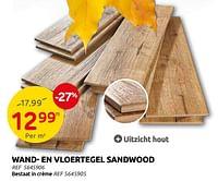 Wand- en vloertegel sandwood-Huismerk - Brico