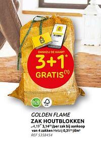 Zak houtblokken-Golden Flame