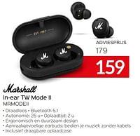 Marshall in-ear tw mode ii mrmodeii-MARSHALL
