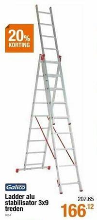 Ladder alu stabilisator 3x9 treden-Galico