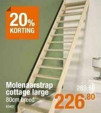 Molenaarstrap cottage large-Huismerk - Cevo
