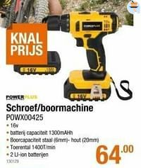 Powerplus schroef-boormachine powx00425-Powerplus