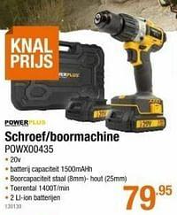 Powerplus schroef-boormachine powx00435-Powerplus