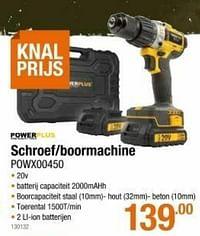 Powerplus schroef-boormachine powx00450-Powerplus