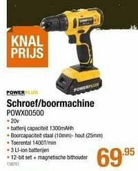 Powerplus schroef-boormachine powx00500-Powerplus
