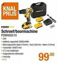 Powerplus schroef-boormachine powx00510-Powerplus
