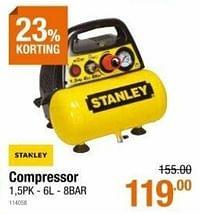 Stanley compressor 1,5pk - 6l - 8bar-Stanley