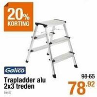 Trapladder alu 2x3 treden-Galico