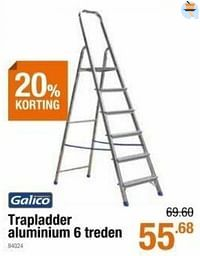Trapladder aluminium 6 treden-Galico