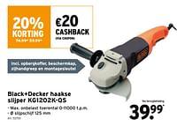 Black+decker haakse slijper kg1202k-qs-Black & Decker