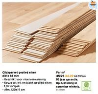 Clickparket geolied eiken-Huismerk - Gamma