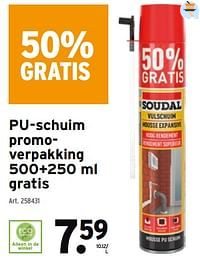 Pu-schuim promoverpakking-Soudal