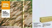 Tussensleufpaal grenen-Huismerk - Gamma