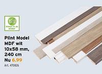 Plint model mdf wit-Huismerk - Gamma