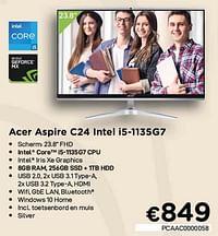 Acer aspire c24 intel i5-1135g7-Acer