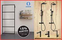 15% korting op kranen en douches loft lines-Sanimar