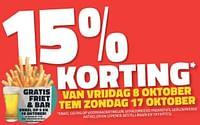 15% korting van vrijdag 8 oktober tem zondag 17 oktober-Huismerk - Bouwcenter Frans Vlaeminck