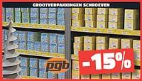 Grootverpakkingen schroeven -15%-PGB