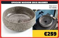 Opbouw waskom grijs marmer-Huismerk - Bouwcenter Frans Vlaeminck