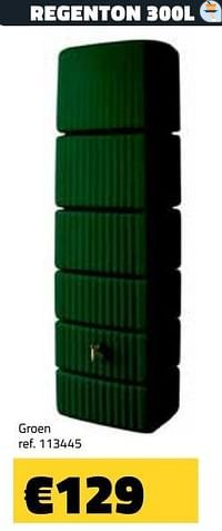Regenton groen-Huismerk - Bouwcenter Frans Vlaeminck