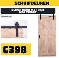 Schuifdeur met rail mat zwart-Huismerk - Bouwcenter Frans Vlaeminck