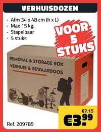 Verhuisdozen-Huismerk - Bouwcenter Frans Vlaeminck