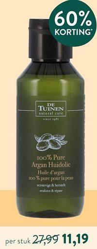 100% pure argan huidolie-De Tuinen