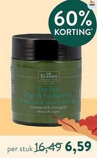 Tea tree dag- + nachtcrème-De Tuinen