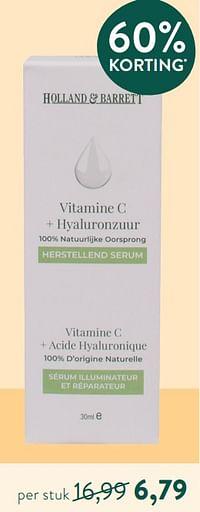 Vitamine c + hyaluronzuur-Huismerk - Holland & Barrett