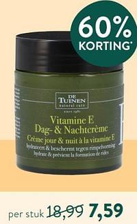 Vitamine e dag- + nachtcrème crème jour + nuit à la vitamine e-De Tuinen