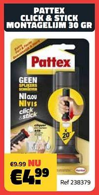 Pattex click + stick montagelijm 30 gr-Pattex