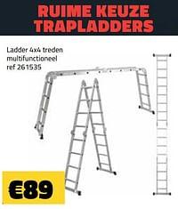 Ladder 4x4 treden multifunctioneel-Huismerk - Bouwcenter Frans Vlaeminck