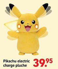 Pikachu electric charge pluche-Pokemon