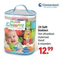 24 soft blokken-Clementoni