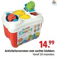 Activiteitenemmer met zachte blokken-Clementoni