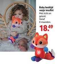 Baby bedtijd vosje knuffel-Vtech