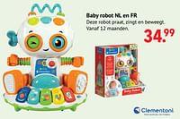 Baby robot nl en fr-Clementoni