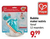 Bubble maker walvis-Hape