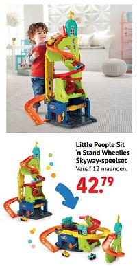 Little people sit 'n stand wheelies skyway-speelset-Fisher-Price