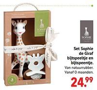 Set sophie de giraf bijtspeeltje en bijtspeentje-Sophie de Giraf